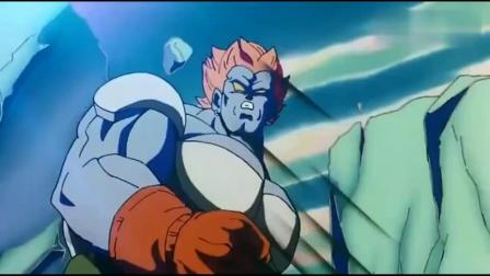 拆机赛亚人制造不出元气弹孙悟空发怒之后变身超级赛亚人,释放出元气弹,太吓人了