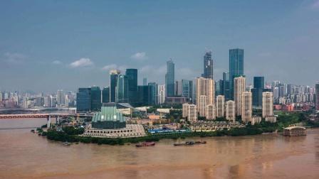 重庆洪水 2020-8-19长江洪峰通过重庆城区  影视后期小平编辑制作
