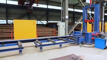 郑锅锅炉钢架生产线