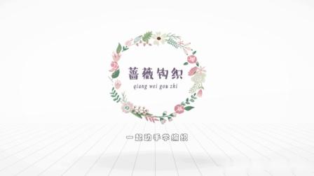 蔷薇钩织视频第155集v领连衣裙片头