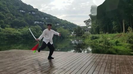 传统杨式太极十三刀练习