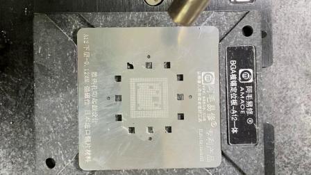 阿毛易修磁性CPU植锡台除胶+植锡使用说明