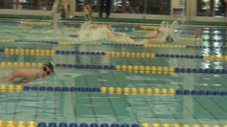 女子100自第二组1道陈思萌 2020浦东新区金桥杯游泳比赛