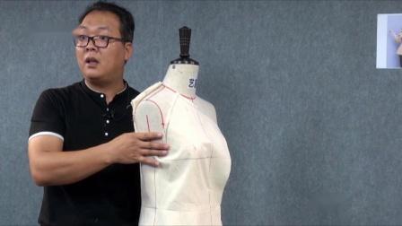 艺服打版精品视频系例视频教程  服装打版制服装制版教学服装立体裁剪 插肩袖平面配置与工艺制做
