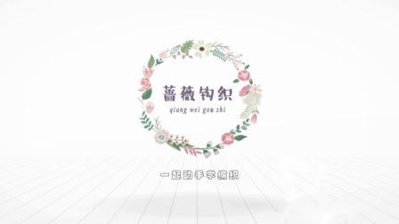 蔷薇钩织视频第167集棒球服开衫片头