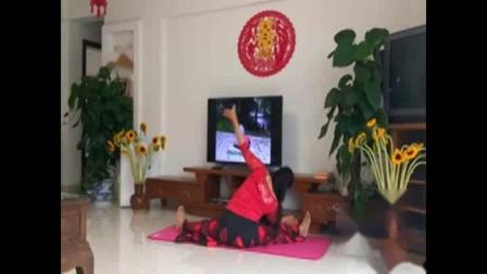 b舞韵瑜伽:芳芳自创《枉凝眉》背面示范
