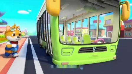宝宝巴士:乐乐小恐龙被车门卡住了,糟糕车门卡坏了,厉害的汽修师前来帮忙