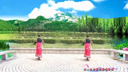 美玲玉广场舞《白云情歌》编舞:雨夜老师