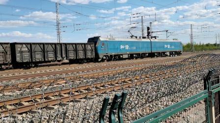 HXD11526牵引大列通过古营盘站