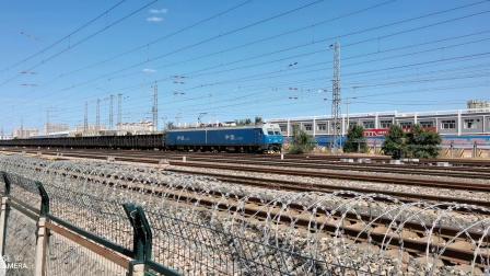 HXD11694牵引大列快速通过古营盘站