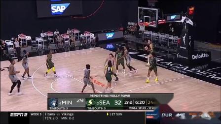 【WNBA】2020季后赛半决赛G2 明尼苏达山猫vs西雅图风暴 9.24