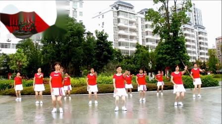 2020龙川思念广场舞姐妹演示:我在等你你在哪里