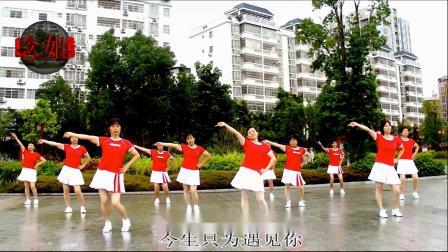 2020龙川思念广场舞姐妹演示:今生只为遇见你
