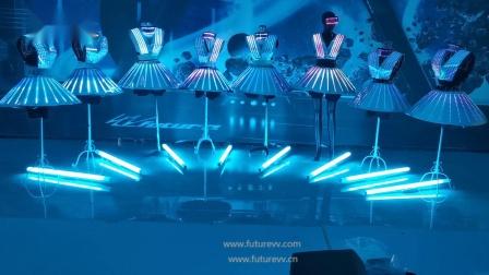 无线同步编程全彩LED像素发光服主题乐园巡游表演