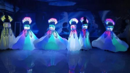 主题乐园游乐园花车巡游表演LED发光服装裙子