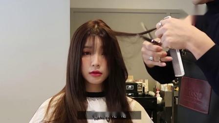 扎着披散都好看的韩式卷发
