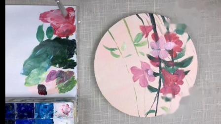 《丙烯画花卉初级》2.春 • 杜鹃