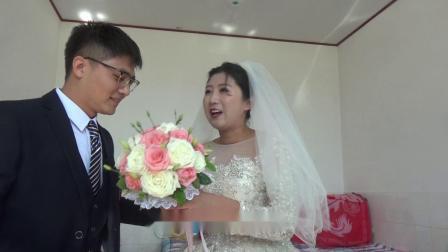 新郎。李更凯,新娘。徐蕾结婚庆典