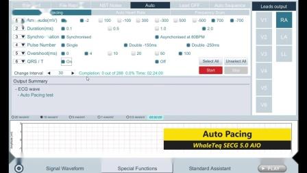 [SECG 5.0 AIO 操作教学] EP4. 自动起博及心律测试、频率扫描及导联脱落模拟