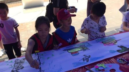 桂林日报社小记者百米长卷绘画