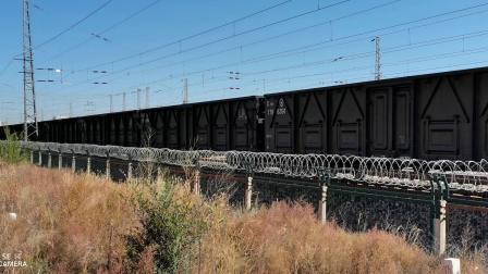 HXD11833牵引C70E大列通过古营盘站