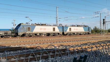 HXD21119牵引大列通过古营盘站