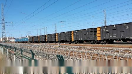 双机HXD1(1181+1537)万吨大列古营盘交汇双机HXD1(1679+1676)万吨