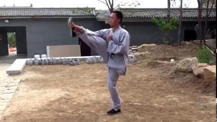 少林弟子演练少林吴古轮派小洪拳