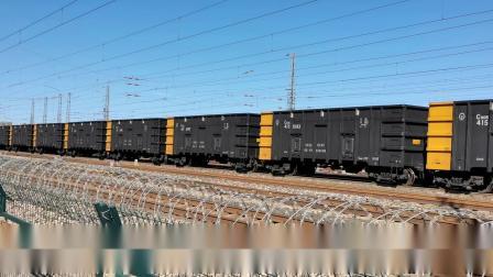 双机HXD1(1535+1241)牵引万吨大列通过古营盘站