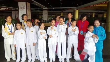 宗翰弟子们参加首届世界太极拳比赛时与拳友们合影留念【宗翰弟子】