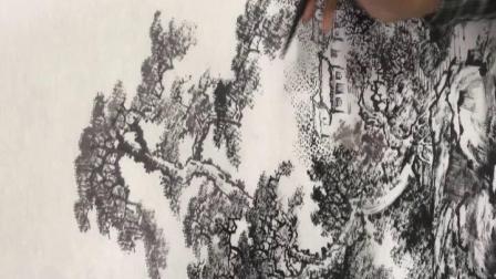太钢老年大学朱宪章老师国画网课山水第3课