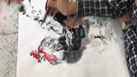 太钢老年大学朱宪章老师国画网课第4课画鸟---大吉