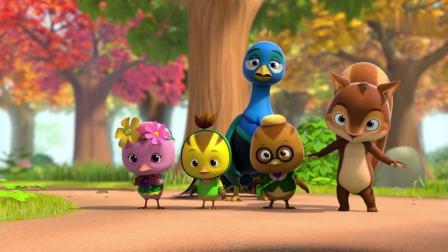萌鸡小队:小萌鸡不能跟松鼠玩球,他们穿漂亮衣服,会弄脏的!