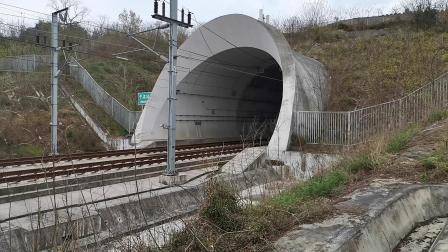 20200321 144505 西成高铁D1924次列车高速冲出中梁山隧道进汉中站
