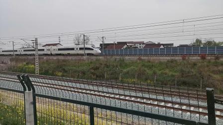 20200322 134247 西成高铁D6866次列车出汉中站交汇G2205次列车