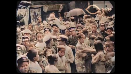 东京 1913-1915 —— 盯着镜头张望的小男孩日后创立了佳能索尼