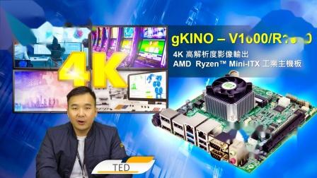 IEI 威强电产品介绍|gKINO-V1000/R1000|4K高分辨率影像输出AMD Ryzen™ Mini-ITX 工业主板