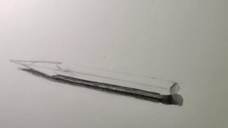 一支炭笔的画法【素描教程】