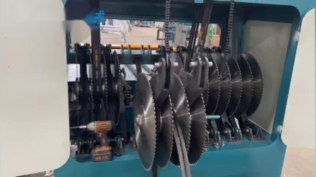 多片断料机更换锯片视频--佛山市南海区正启机械厂