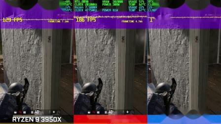 绝地求生 5800X/10900K/3950X性能对比测试视频