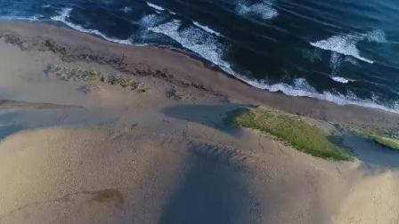 航拍日本鸟取县海岸沙丘
