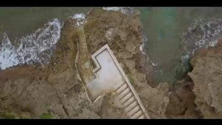 航拍日本冲绳真荣田岬自然公园