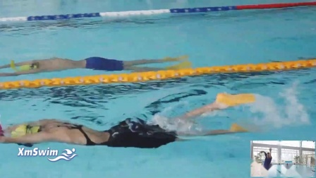 自由泳单臂提肘入水
