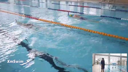转动提肩自由泳腿