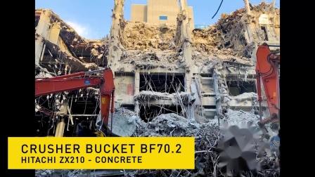 BF70.2配Hitachi ZX210挖机在日本施工