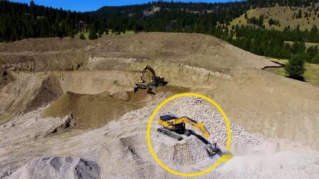 BF120.4安装在Sany SY365c挖机上,在美国回收鹅卵石