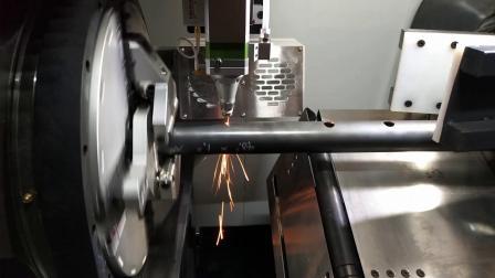 海目星激光切管机全新功能:焊缝检测,避开焊缝切割!