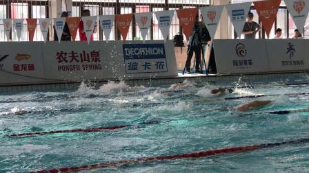 第三届市民游泳运动会41~50岁组,100自决赛,第三道洪伟淳