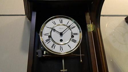 德国赫姆勒实木机械挂钟经典客厅挂钟家用挂钟