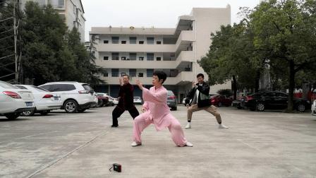 和老彭国生演练梅山太极拳十六式